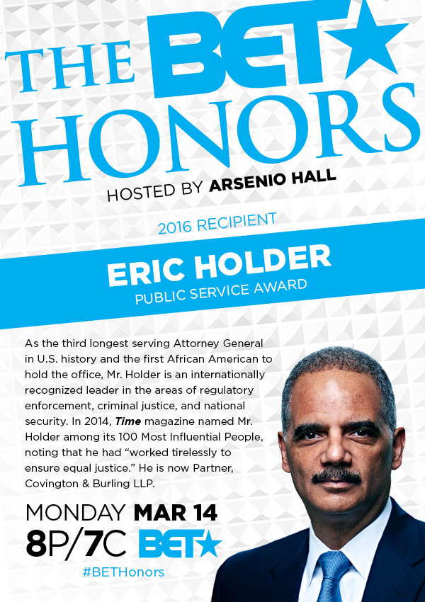 Eric Holder BET 2016 Award