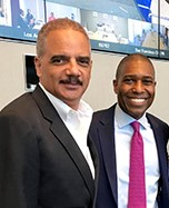 Eric Holder, Tony West, Tammy Albarran