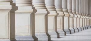 photo of line of column bases for the DC Litigation Department of the Year article